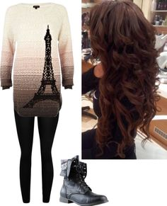 """""""casual school outfit"""" by haley-alexandra-1 ❤ liked on Polyvore"""