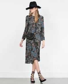 Image 1 of PRINTED DRESS from Zara