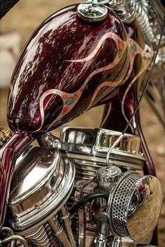Harley Davidson Panhead Custom painting Gas Tank
