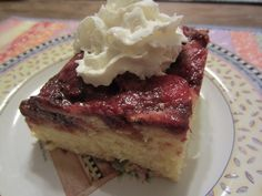Fresh Strawberry Upside Down Cake - with an ingredient that will surprise you.