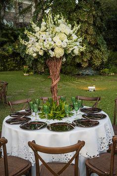 Arranjos florais - Casamento Rústico-chique