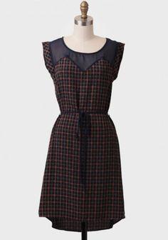 ucaree's save of Claremont Plaid Dress on Wanelo