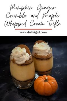 New Jersey home chef Dina Gonsar is making Pumpkin, Ginger Crumble, and Maple Whipped Cream Trifle. The full recipe can be found on her blog or by clicking the photo here!