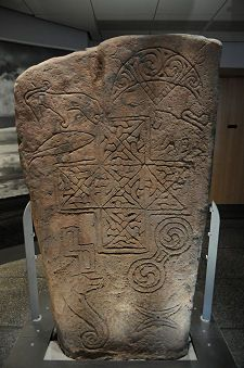 The front of the Ulbster Stone. Ireland. Compare early celtic carvings to those of Anatolia and Bulgaria, including the seahorse-like Dacian Dog