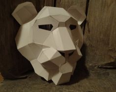Make Your Own Lion mask from recycled paper, PDF pattern, PDF mask, Printable Mask