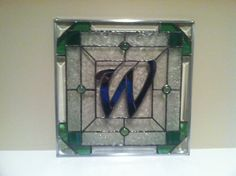 """""""W"""" Monogram in Stained Glass, by Janelle"""
