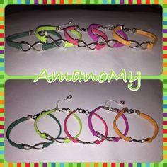 Bracelet#bracciale#jewels#infinito#strass#charms#handmade#alcantara#colori#bijoux#