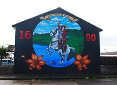Loyalist mural in the Shankill Road area of Belfast., Northern Ireland.