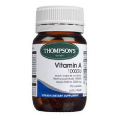 Thompsons Vitamin A helps maintain skin integrity, healthy immune system and overall well-being. Thompsons Vitamin A is commonly used to help maintain healthy vision.
