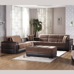 Moon Sectional Sofa Bed In Troya Brown By Istikbal