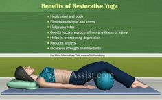 What is Restorative Yoga? Its Benefits, Poses and Commonly Used Props #RestorativeYoga #yoga #poses #yogaPoses #IyengarYoga #fitness #healthtips #ePainAssist Read: http://www.epainassist.com/yoga/what-is-restorative-yoga-its-benefits-poses-and-commonly-used-props