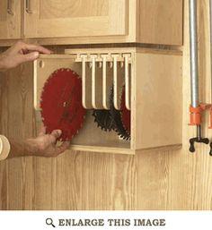 Table Saw Blade Locker Storage Unit Woodworking Plan, Shop Project Plan | WOOD Store