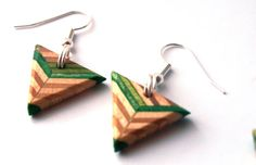 Triangle Recycled Skateboard Earrings Made in Canada by SecondShot, $14.99
