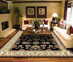 Traditional Area Rugs 2x3 Door Mat Indoor Black Small Rugs for Bedroom Prime Rug #traditionalbedroomdecor