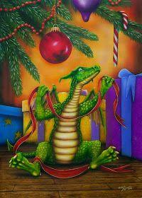 ShapeShifter Seduction: Let There Be Dragons At Christmas Fantasy Dragon, Dragon Art, Fantasy Art, Snow Dragon, Christmas Dragon, Christmas Art, Christmas Animals, Magical Creatures, Fantasy Creatures