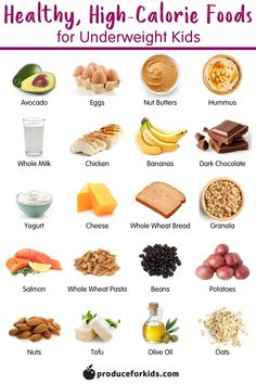 Have an underweight kid? Add calories and nutrition to their diet with the 20 healthy, high-calorie foods. Plus, were sharing tips on how to make the most of mealtime and getting these foods into your childs diet. Gain Weight Fast, Weight Gain Meals, Meal Plans To Lose Weight, Healthy Weight Gain, Weight Gain For Kids, Tips To Gain Weight, Weight Loss, Losing Weight, Healthy High Calorie Foods