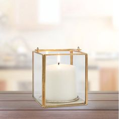 Better Homes & Gardens Metal & Glass Small Lantern, Gold Finish Image 2 of 5 Gold Lanterns, Small Lanterns, Metal Lanterns, Pool Noodle Christmas Wreath, Decorative Items, Decorative Pillows, Round Wedding Tables, Gold Candle Holders, Table Top Display