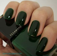 Makeup dark green nail polish 42 best ideas Many women prefer to attend the hairdresser even if they … Dark Green Nail Polish, Green Toe Nails, Dark Green Nails, Nail Polish Colors, Polish Nails, Nice Nail Colors, Nail Colour, Trendy Nails, Cute Nails