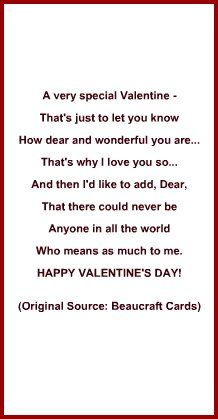 love verse or poem idea for valentine s day card valentines day