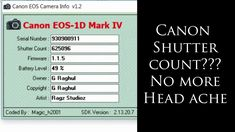 Simple And Easy Way To Check Canon Shuttercount Download Link Provided In 2020 Tips Fotografie
