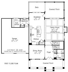 images about Houses on Pinterest   House plans  Floor plans    The Summerwalk Village House Plans First Floor Plan   House Plans by Designs Direct