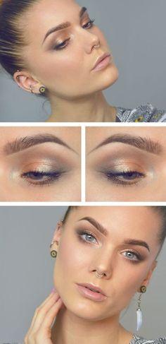 Maquillaje difuminado y sin delineado