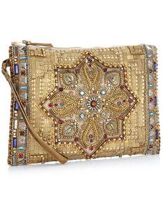 Turkish Treasure Zip Top Clutch | Gold | Accessorize