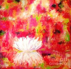 Abstract Water Lily - Original Painting, Prints and Greeting Cards available.