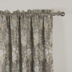 IYUEGO Wide Curtains for Large Windows Country Jacqaurd Rod Pocket Top Blackout Curtains Drapes With Multi Size Customs W x L (One Panel) Wide Curtains, Floral Curtains, Blackout Curtains, Panel Curtains, Curtain Store, Buying Wholesale, Large Windows, Rod Pocket, Drapery