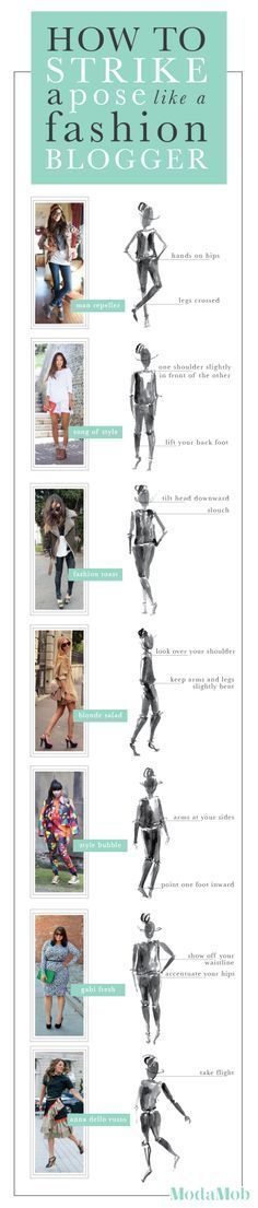 How to strike a pose like a fashion blogger - useful if we want to post our best for photographs!