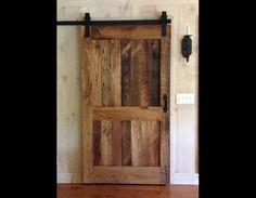 decorative barn doors on sliding track   reclaimed chestnut sliding barn door with flat track hardware 17/23