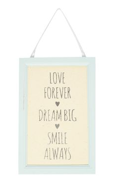 Primark - Gabriella Love Forever Quote Wallart