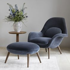 Swoon Armchair by Fredericia Furniture Haute Living is part of Arm chairs living room - Shop the Swoon Armchair and more contemporary furniture designs by Fredericia Furniture at Haute Living Living Room Seating, Small Living Rooms, Living Room Modern, Living Room Chairs, Living Room Decor, Lounge Chairs, Lounge Chair Design, Arm Chairs, Piece A Vivre