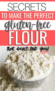 Learn how to use gluten-free flours like a pro! Learn how to make the best gluten-free all-purpose flour mix. Learn about different gluten-free flours, how to use them, and how to create your own blend Cookies Sans Gluten, Dessert Sans Gluten, Gluten Free Cakes, Gluten Free Desserts, Dairy Free Recipes, Gluten Free Bread Flour Recipe, Gluten Free All Purpose Flour Mix Recipe, Gluten Free Biscuits, Wheat Free Recipes