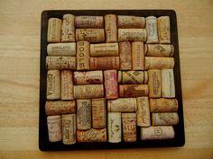 Wine Cork Trivet Wine Corks Cork Board Trivet by PreciousNPretty, $20.00