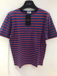 d46b3cefbfe Saint Laurent Paris SS16 Striped Shirt By Hedi Slimane Size US M / EU 48-