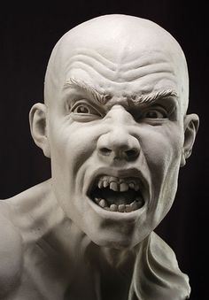 Stone Sculptures, Full Figure Portrait Sculpting by Philippe Faraut Human Sculpture, Sculpture Head, Stone Sculptures, Le Cri, Face Anatomy, Clay Faces, Face Expressions, Dark Art, Statues