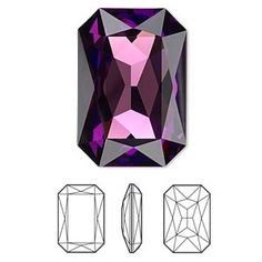 8476005ef Embellishment, Swarovski crystal rhinestone, Crystal Passions®, crystal  vitrail medium, faceted emerald-cut fancy stone Sold per pkg of