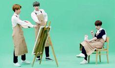 Baekhyun the artist, Chanyeol the director, and Kyungsoo the eternal muse. xD
