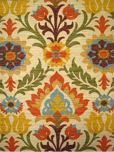 """Santa Maria Adobe:Waverly Fabric Hacienda Haven 100% cotton multi purpose decorator fabric. V 18""""-H 13.5"""" repeat. 54"""" wide. 676120"""