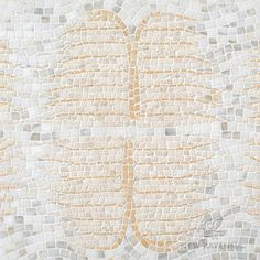 Wings, a hand-chopped stone mosaic, shown in tumbled Calacatta Gold, Sylvia Gold, and Travertine White. Banks Collection for New Ravenna. Tribal Patterns, Graphic Patterns, Stone Mosaic, Stone Tiles, New Ravenna, Calacatta Gold, Coastal Style, Beautiful Images, Wings