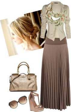 """fierce casual :D"" by jvs8384 ❤ liked on Polyvore-I normally don't care for pleated skirts, but this outfit is cute :)"