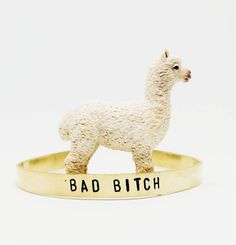 #BadBitch alert over here // this #handstamped cuff available over in my Etsy shop