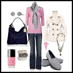 Winter outfit love all with the exception of the shoes..