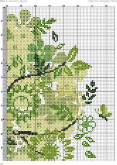 Cross Stitch Tree, Cross Stitch Books, Cross Stitch Flowers, Counted Cross Stitch Patterns, Cross Stitch Designs, Crewel Embroidery, Cross Stitch Embroidery, Embroidery Patterns, Beautiful Flower Designs