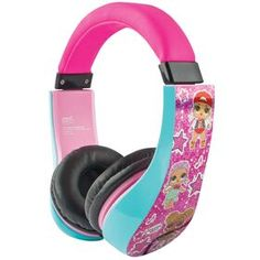 LOL surprise Kids safe headphone This headphone comes with volume level protection and conforms to recommended safety levels to help prevent noise-induced hearing loss Idr Kids Headphones, Audio Headphones, Toys R Us Canada, Lol Dolls, Fitbit Alta, Funny Kids, Stuff To Buy, Spam