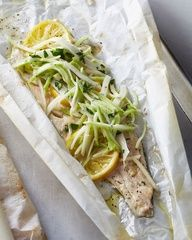 Baked Trout with Broccoli, Apple, and Fennel Slaw