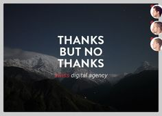 Thanks but no Thanks - Swiss Digital Agency (TBNT) - Nominee September 21 2014
