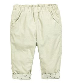 Corduroy Pants | Light green | Kids | H&M US