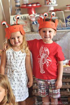 Nautical Crab Party Ideas #kidsparty #birthdayparty #boyspartyideas